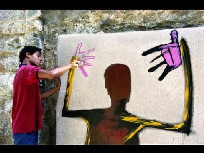 Il Basquiat di Lee Jaffe in mostra a Bologna