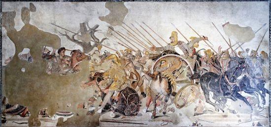 mosaico della battaglia di isso