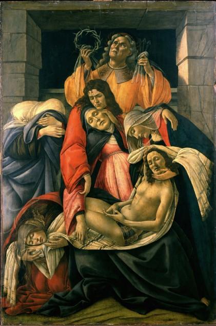 compianto sul cristo morto botticelli