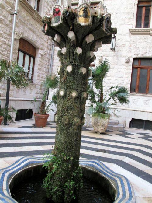 palazzo dell'acquedotto pugliese di bari fontana