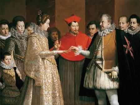 Dolci trionfi e finissime piegature, a Firenze il matrimonio di Maria de' Medici