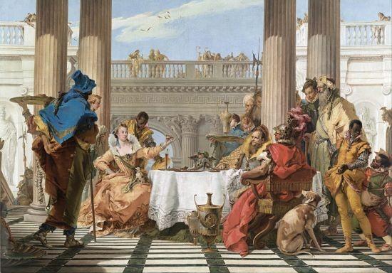 giambattista tiepolo banchetto di cleopatra